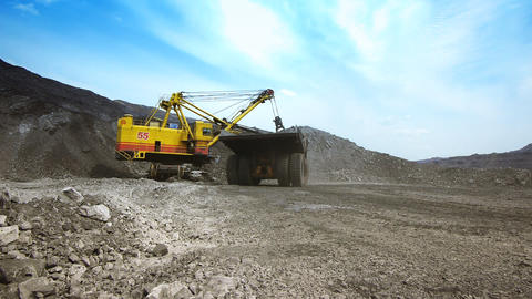 Mining dump truck 037 Stock Video Footage