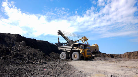 Mining dump truck Stock Video Footage