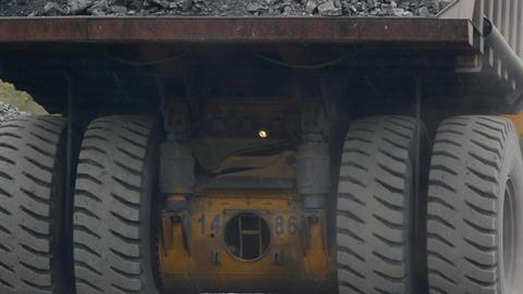 Mining dump truck Stock Video Footage
