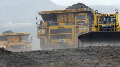 Mining dump truck 037 Footage