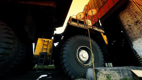 Mining truck garage Footage