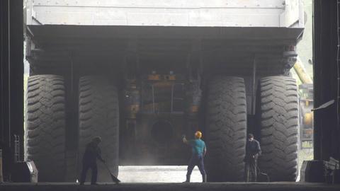 Mining truck garage 009 Footage