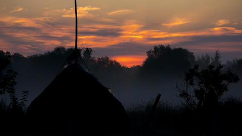 Rural morning Footage