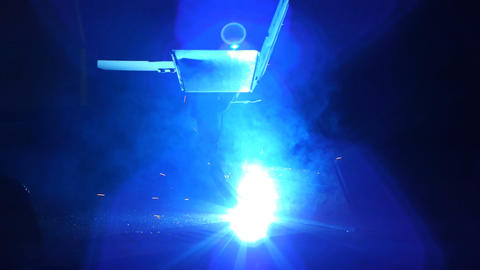 Welding robot Stock Video Footage
