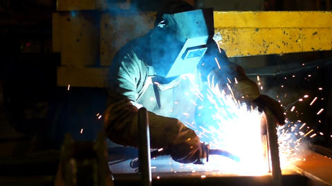 Welding  Slow  Motion  6 stock footage