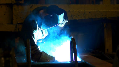 Welding slow motion Stock Video Footage
