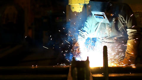 Welding slow motion Footage