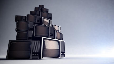 Retro TV with static Footage