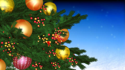 cristmas tree 01 Stock Video Footage