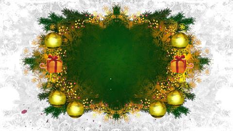 christmas frame loop 02 Stock Video Footage