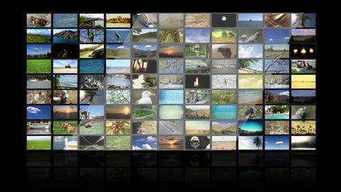 Multimedia TV Wall 01 Animation