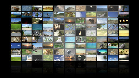 Multimedia TV Wall 01 Stock Video Footage