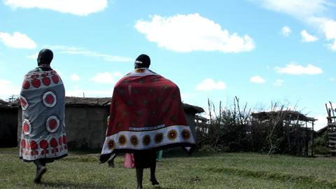 Masai village Footage