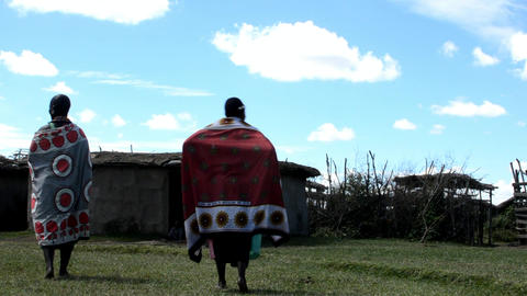 Masai village Stock Video Footage