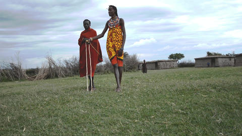 Masai Village stock footage