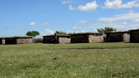 Masai village Stock Video Footage