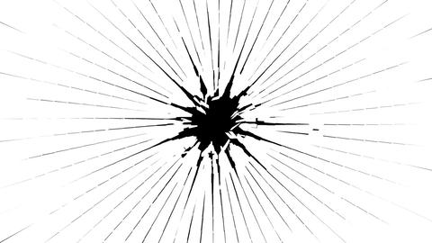 Bullet hole: Shattered glass with slow motion. Alpha is... Stock Video Footage