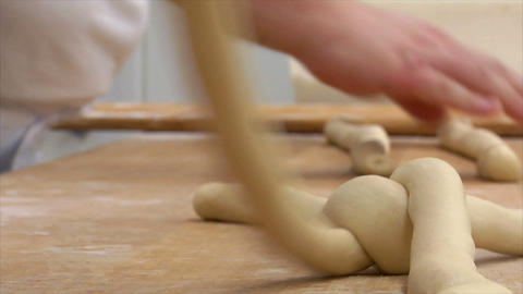 german bakery bread plait braid challah close 10814 Stock Video Footage