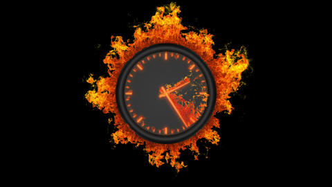 Burning clock Animation