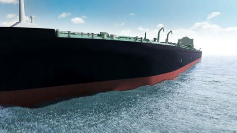 Oil tanker in a sea Stock Video Footage