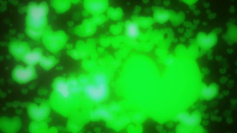Heart radial green1 Stock Video Footage