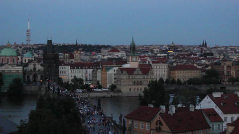 Prague City 1 Stock Video Footage