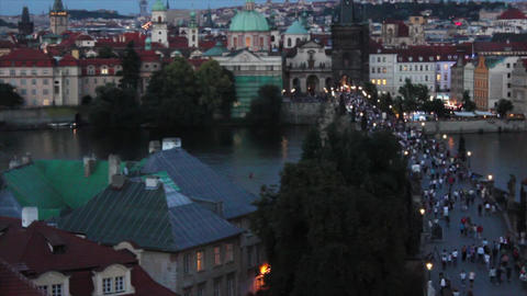 Prague Bridge 3 2 Stock Video Footage