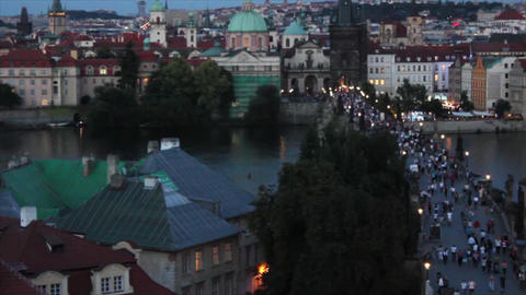 Prague Bridge 3 2 Stock Video Footage