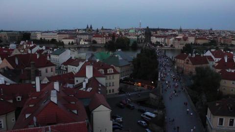 Prague Bridge 3 Stock Video Footage