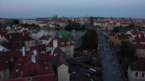 Prague Bridge 3 Stock Video Footage