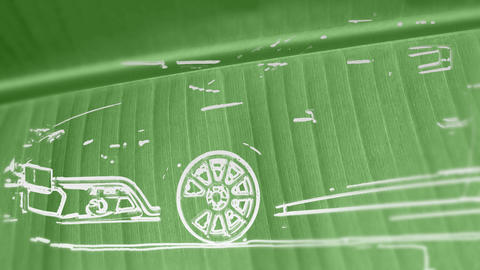 Green Car stock footage