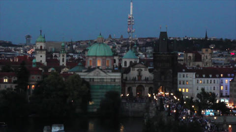 Prague City 7 Stock Video Footage