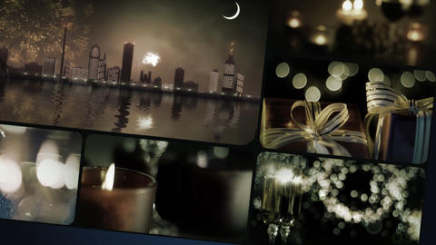 Christmass montage Stock Video Footage