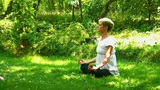Attractive Young Women Meditating II stock footage