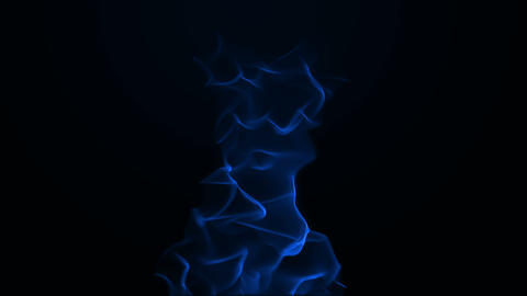 Blue Flames stock footage