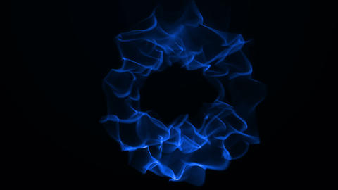 Blue Flames Stock Video Footage