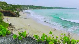 Dreamland Beach View,Bali stock footage