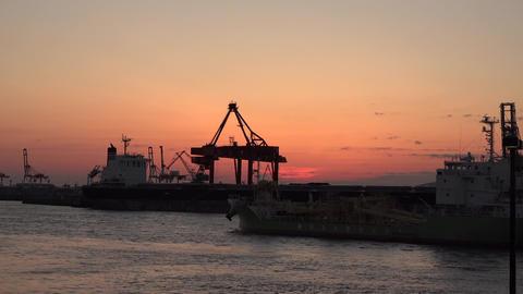 4K Sunset Osaka port / 夕暮れの大阪港 Footage