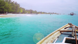 Along the shore of a tropical island by boat ภาพวิดีโอ