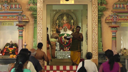 Ceremony in the Hindu Temple,Singapore Archivo