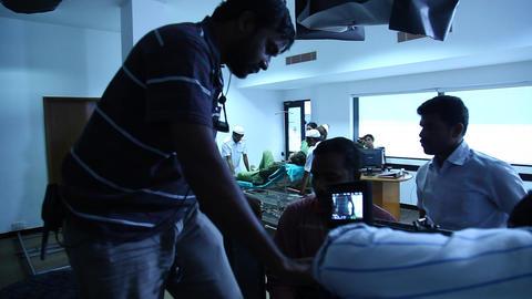 Film Crew in Hospital Footage
