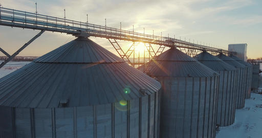 Big grain elevators Footage