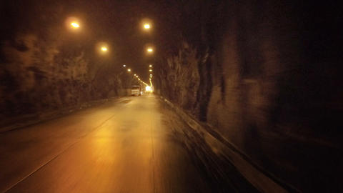 Driving Thru Uncemented Tunnel In Ecuadorian Andes ビデオ