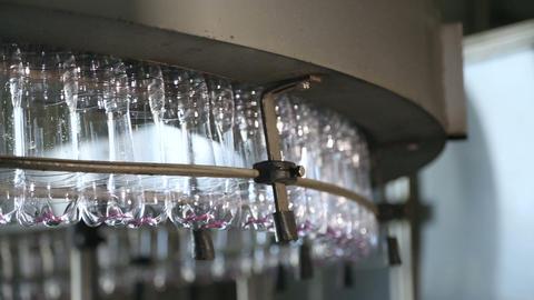 Plastic bottle manufacturing line Footage