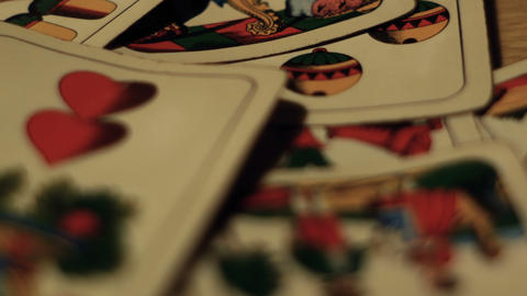 tracking shot on playing cards, gambling addiction Live Action