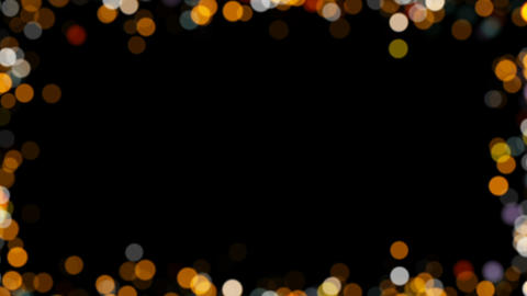 Particles Bokeh Frame 01