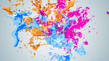 Paint Splash Logo Reveal Plantilla de After Effects