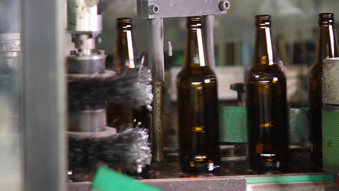 Quality control of glass bottles Footage