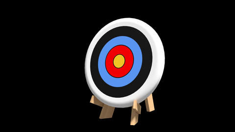 Arrow hits bullseye Animation