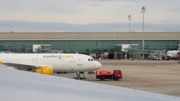 Barcelona Airport Runaway Tracking Shot Footage